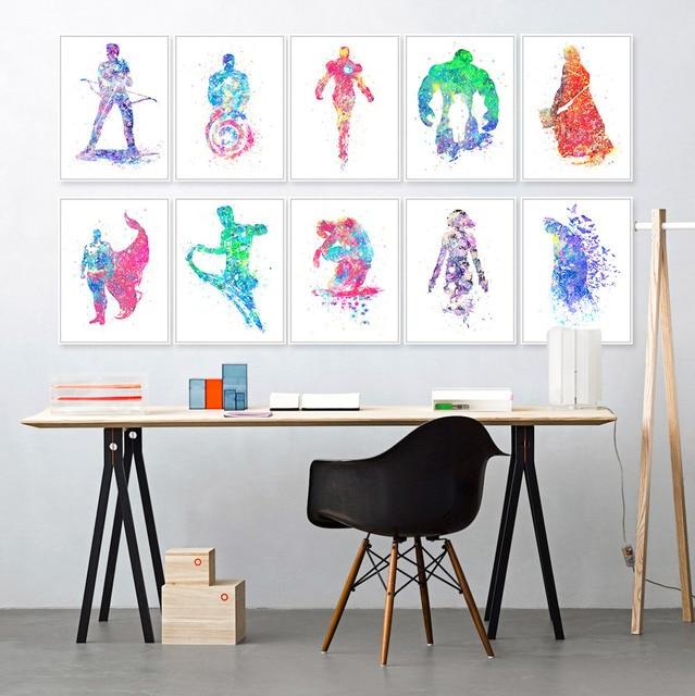 Arte ritratto dipinto su tela, famiglia soggiorno computer avatar ...