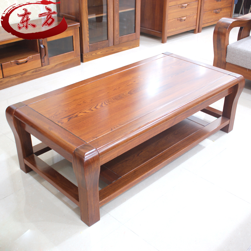 Solid Wood Rectangular Coffee Table: All Solid Wood Coffee Table Old Elm Furniture Rectangular