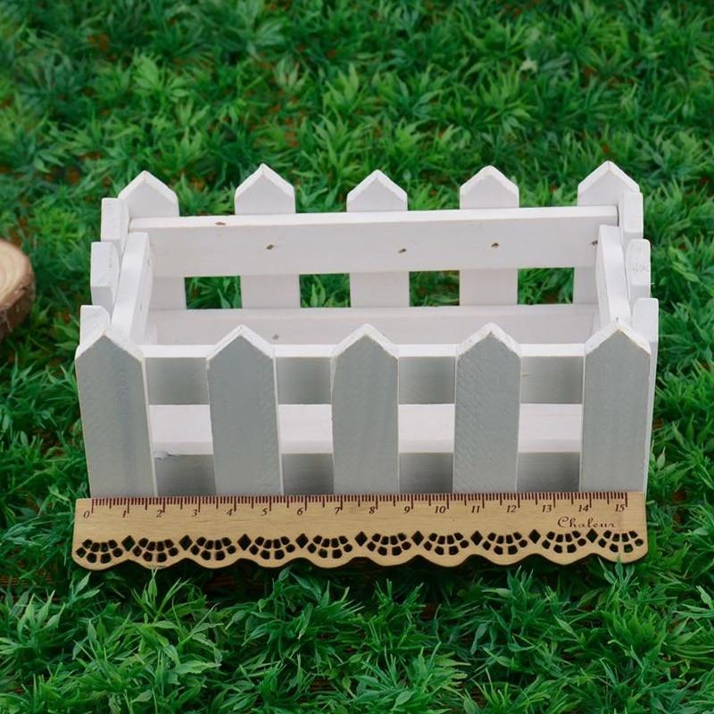 Home Decor For Sale: Hot Sale Fir Wood Fence Flower Vase White Artificial