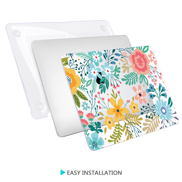 Redlai Colorful Flowers Case for MacBook 2