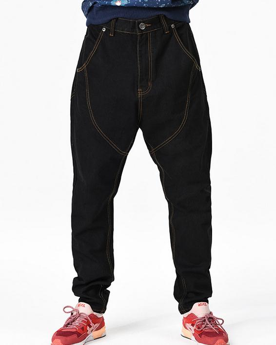 #1929 Black Mens clothing Plus Size Jeans Hip Hop Big Fork Pants Loose Harem Pants Man Trousers pantalon
