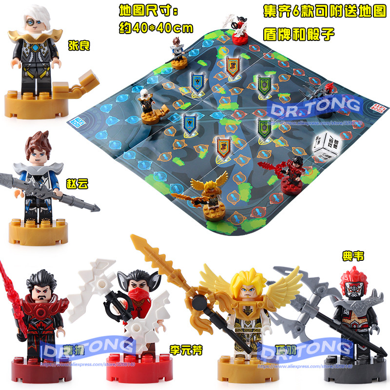 DR.TONG 60pcs/lot Lepin03060 King of Glory One of China Romance of the Three Kingdoms Building Blocks Figures Toys Children Gift 60 volumes china comic strip books romance of the three kingdoms chinese ed