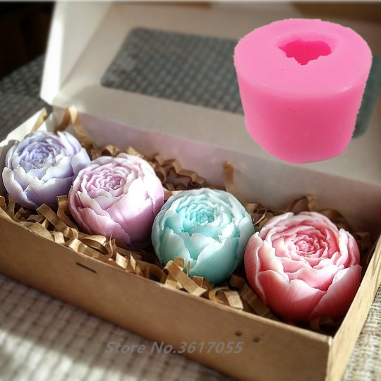 New Rose Shape Silicone Fondant Soap 3D Cake Mold Cupcake Jelly Candy Chocolate Decoration Baking Tool Moulds