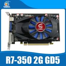 Оригинальный рабочего GPU видеокарта veineda R7 350 2 ГБ GDDR5 128Bit независимых игра видеокарта R7-350 для ATI Radeon игровой
