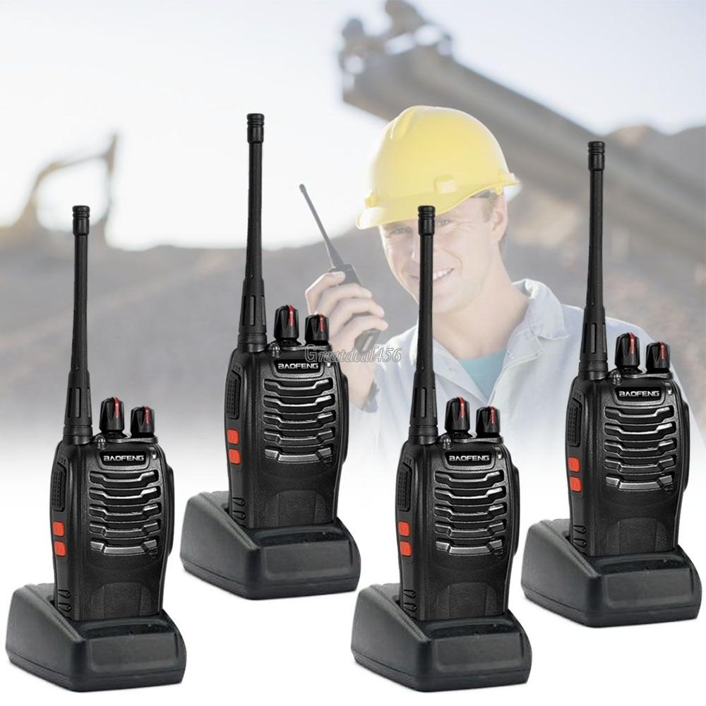 4 x Baofeng BF-888S Long Range Walkie Talkie UHF 400-470MHZ 2-Way Radio 16CH + earpiece in Russia-Moscow