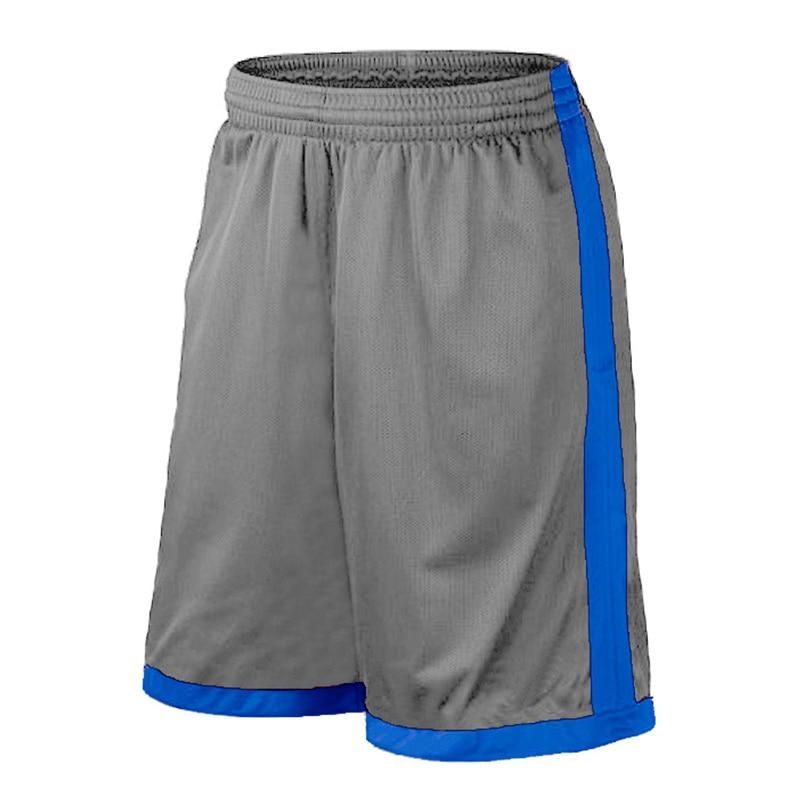 Баскетбольные шорты размера плюс, мужские спортивные шорты, мужские быстросохнущие баскетбольные шорты с карманами, баскетбольная майка высокого качества - Цвет: Gray Blue