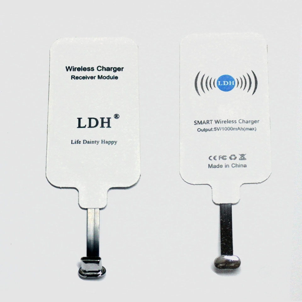 LDH Qi Wireless Charger Receiver USB Type C Charging Adapter For xiaomi 4s 5 5s 5c Plus Note2 MIX 2 Redmi Pro