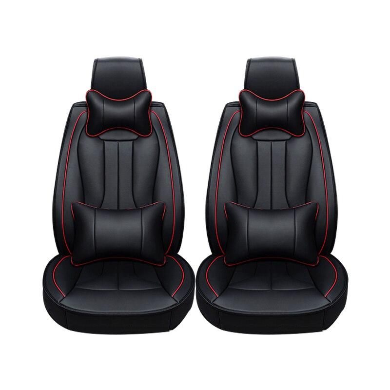 2 pcs En Cuir housses de siège de voiture Pour Mazda 3 6 2 C5 CX-5 CX7 323 626 M2 M3 M6 Axela Familia voiture accessoires de voiture style