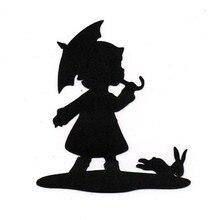 Eastshape Litter Girl Rabbit Dies Scrapbooking Kids Pet Metal Cutting for Embossing Stencil Card DIY Craft New 2019