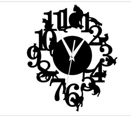 021251 творческая DIY милый кот взобрался на колокол yakeli исследование спальня украшения немой настенные часы