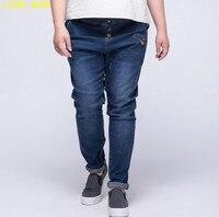 Classic Style Straight Jeans Women High Waist Jeans Female Elastic Plus Size Denim Pants Trousers Good