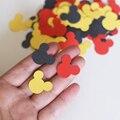 C01 (100 peças/lote) Vermelho Amarelo Vermelho Mickey Scrapbooking Perfurador De Papel Confetti Decoração da Festa de Aniversário de Mickey mouse inspirado