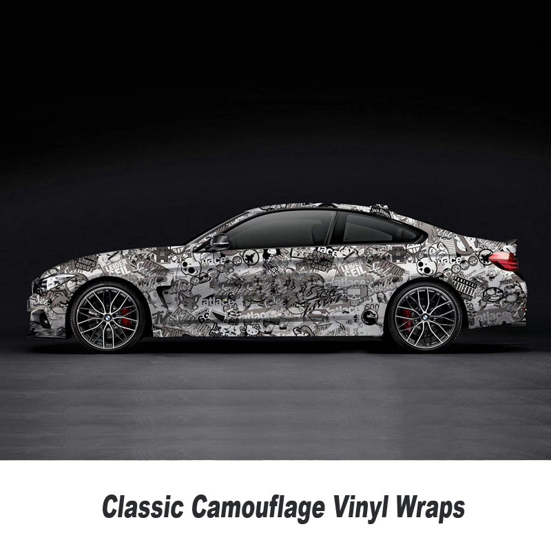 Sticker Bomb Vinyl Wrap Film Roll Graffiti Cartoon Car Wrapping Sticker Console Computer Laptop Skin 5m/10m/15m/20m/25m/30m