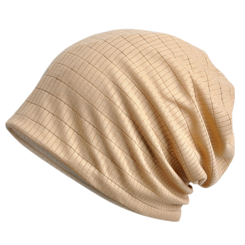 Thin Breathable Men Women Knitted Caps Spring Summer Cotton Bonnet Hat Solid Color   Skullies     Beanies   Multifunction Hedging Cap