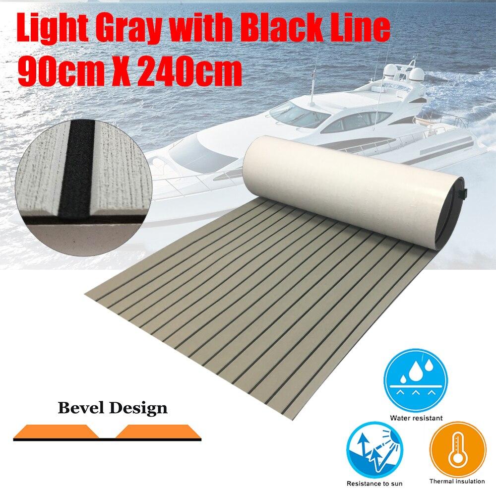 EVA bateau teck platelage feuille Yacht Marine plancher tapis adhésif 60/90/120cm240cm gris clair en noir biseau Marine accessoires