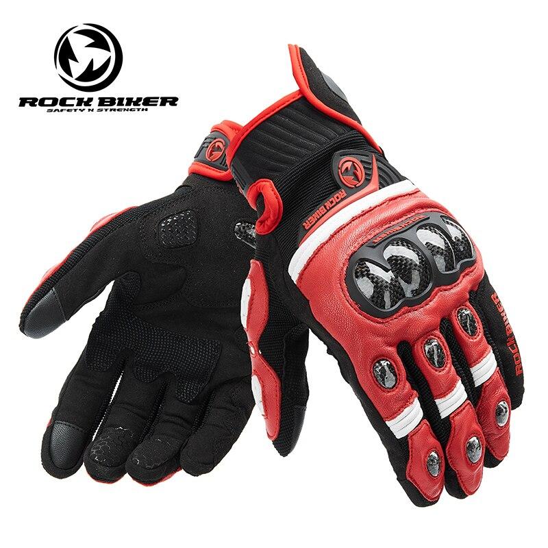 MotorcycleTouch Screen Gloves Men Leather Full Finger Breathable Women Outdoor Motorbike Gloves Motocross Guantes Gloves S