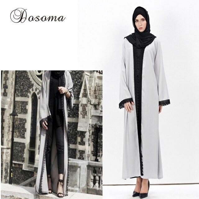 d249f34942 Fashion Muslim Abaya Cotton Linen Cardigan Robes Maxi Dress Women Islamic  Dubai Turkey Instant Hijab Arab Vestidos Models 02