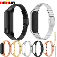 For Xiaomi Mi Band 3 Replacement Stainless Steel Wrist Strap Bracelet Accessories Wristbands Miband