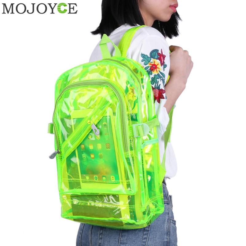 Fashion Hologram Laser Transparent Backpack Waterproof PVC Clear Plastic Daily Backpack Mini Teenager Girls notebook School BagFashion Hologram Laser Transparent Backpack Waterproof PVC Clear Plastic Daily Backpack Mini Teenager Girls notebook School Bag