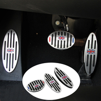 Jack Aluminum AT Footrest Gas Brake Clutch Pedal Cover For BMW Mini Cooper JCW S R55