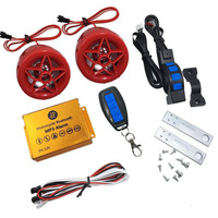 Motorcycle Alarm System Speakers Bluetooth Audio Player FM Radio MP3 Music Motorbike TF Card USB Scooter