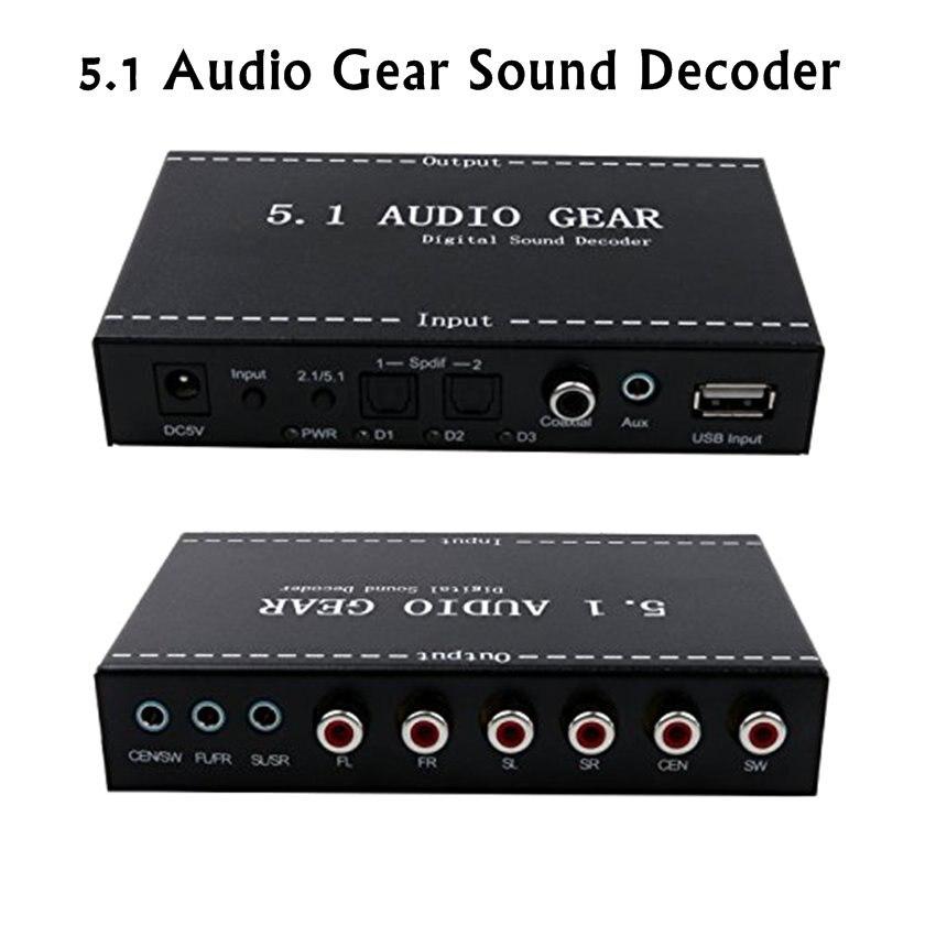 US/EU Plug 5.1 Audio Devices Digital Audio Decoder Convert DTS/AC3 Source Audio to 5.1 Audio or Stereo Audio Output mastering digital audio production