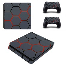 Skin For PS4 Slim Console Sticker For Sony Playstaion 4 PS4 Slim Skins + 2Pcs Controller Protective Cove