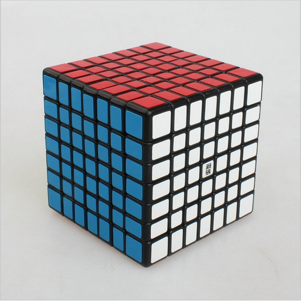 Latest 7x7x7 Aofu GT Dice Magic Puzzle Black and White Full Coloration Studying&Instructional Cubo magico Toys as a present
