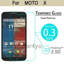New 9H 2 5D Explosion proof Real Tempered Glass Screen Protector For Motorola Moto X XT