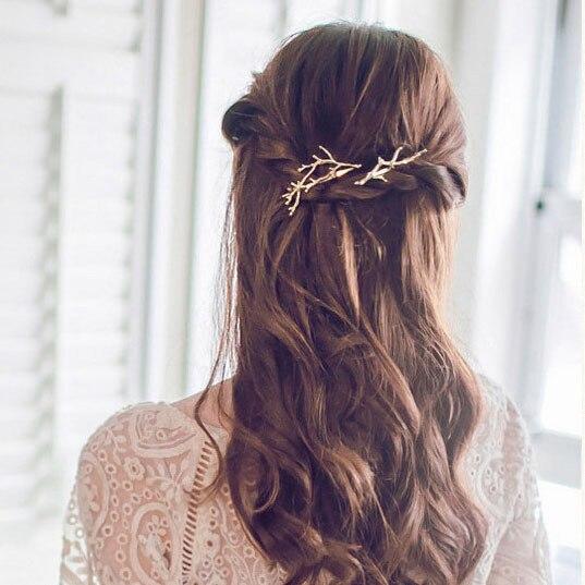 Retro Metal Branches Hairpins Jewelery Women Hair Clip Fashion