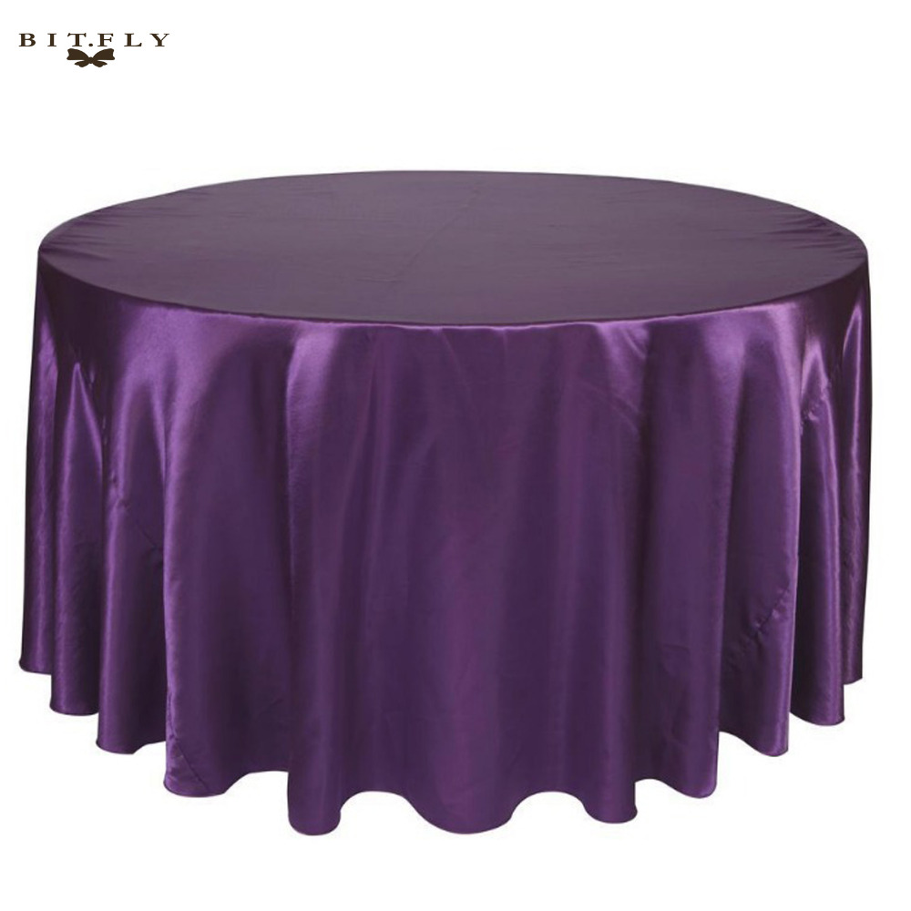 Merveilleux 10pcs/lot 120 Inch Round Satin Tablecloths Purple Color Table Cover For  Wedding Party Restaurant Banquet Decorations In Tablecloths From Home U0026  Garden On ...