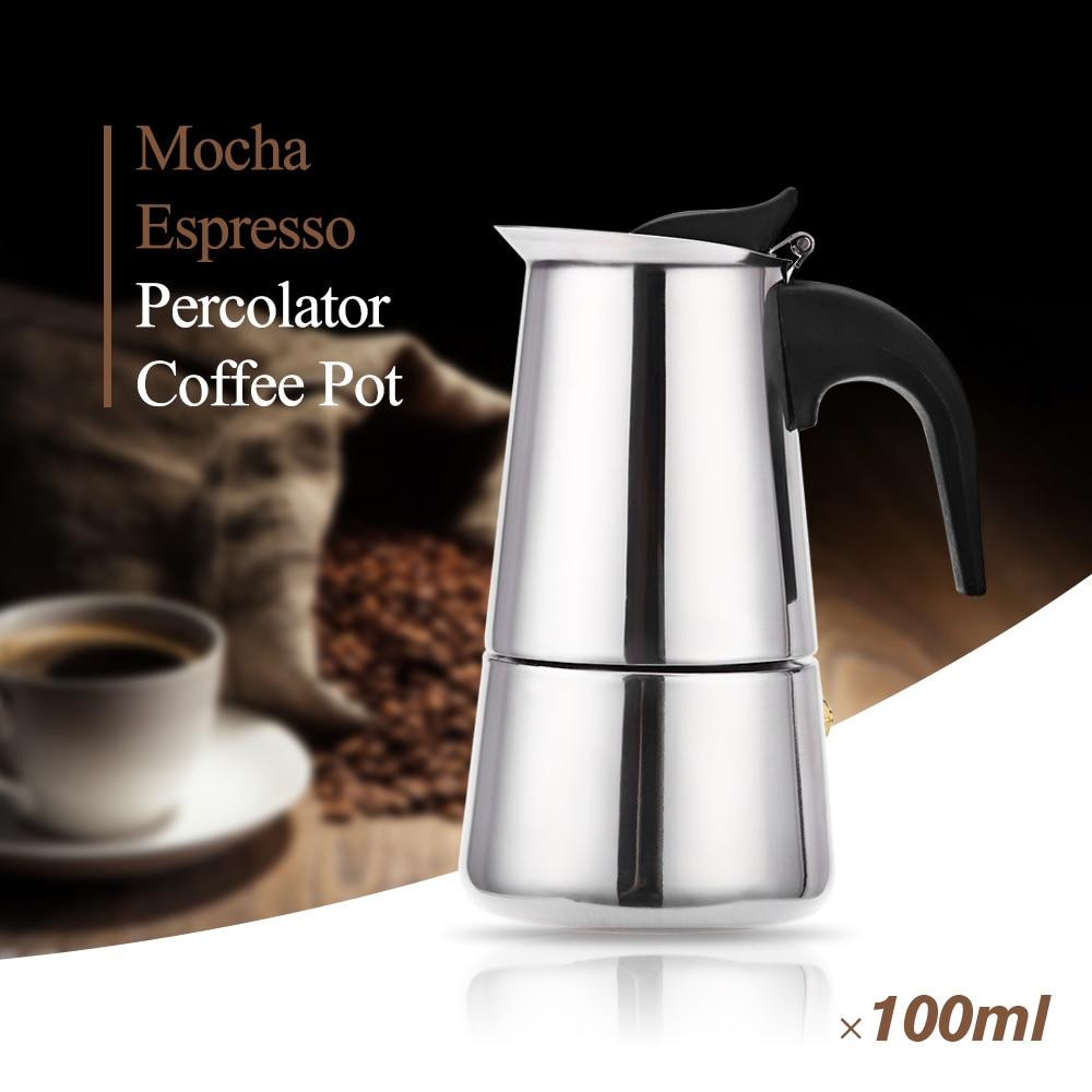 Mocha Espresso Maker ~ Stainless steel moka coffee maker mocha espresso latte