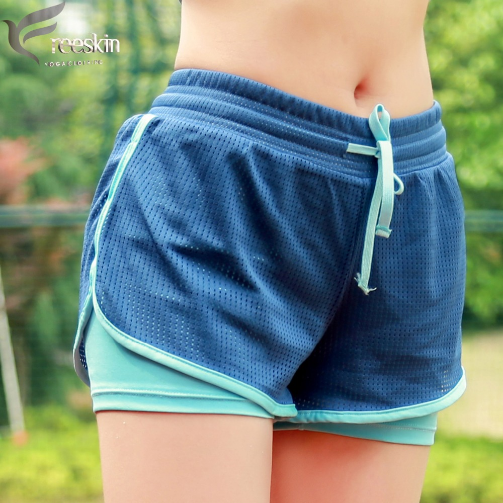 Freeskin 2 in 1 Women Sports Shorts For Summer Practise Sportwear Active Yoga Shorts For Fitness Gym Workout Clothes for Women lace up color block yoga gym shorts for men