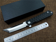Newest D2 blade folding tactical knife titanium handle Top quality outdoor hand tool EDC ball bearing Flipper pocket knife