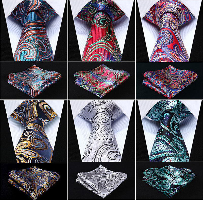 Pocket Square Classic Party Wedding Paisley 3.4