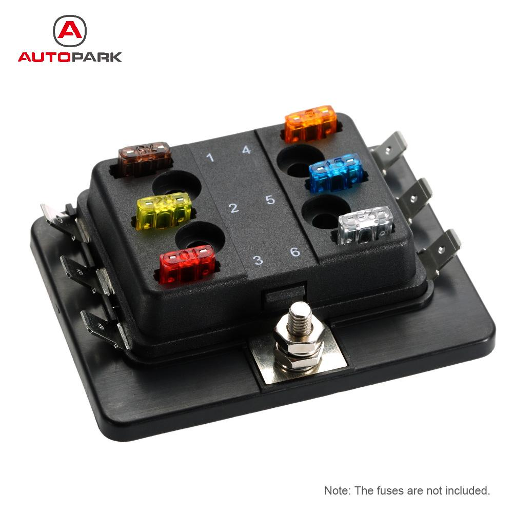 6 Way Mini Blade Fuse Box Holder Apm Atm 5a 10a 25a For Car Boat Processor 1