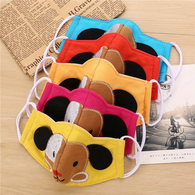 10pcs/Bags Autumn And Winter New Folding Cute Cartoon Puppies Personality Masks Dust Anti - Haze Breathable Warm Masks