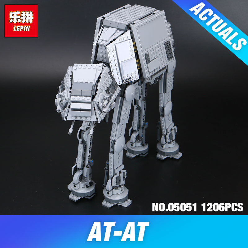 Lepin 05051 Serie Star Fuerza Despertar El AT-AT Transpotation Robot Blindado 75