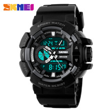 SKMEI Watches Big dial Military Sport wristwatch Army Fashion Digital Analog Watch Quartz Dual Time relojes relogio masculino