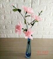 Diy mestieri di carta crespa fiore di ibisco 7 decorazione della casa pacchetto di materiali in vaso regalo del partito