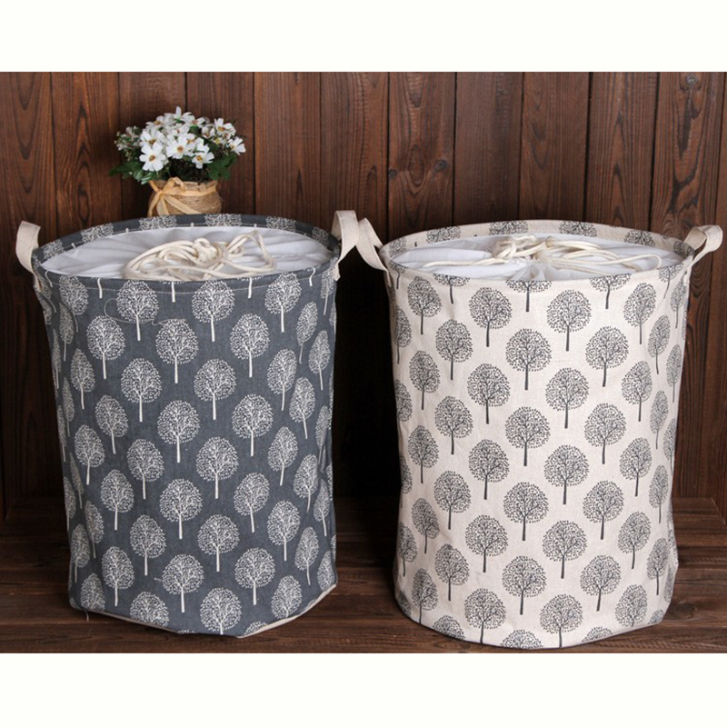 Zakka Large Sizes Beam Port Linen Storage Basket Laundry Bags Folding Sundries Toy Dirty Clothes Storage Box Organizer