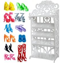 2fa7012dd56b22 1x z tworzywa sztucznego biały lalka półka na buty/losowe 12 par butów  meble do
