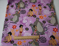 1 ярд Книга джунглей в фиолетовый хлопок DIY ткань занавеска ткань Подушка ширина 140 см швейная домашняя текстильная отделка