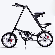 Road Bicycle Christmas Gift Folding Bike 16 Inch Wheel BXW Complete Road Bike Retro Frame New Creative Show Performance Bicycle