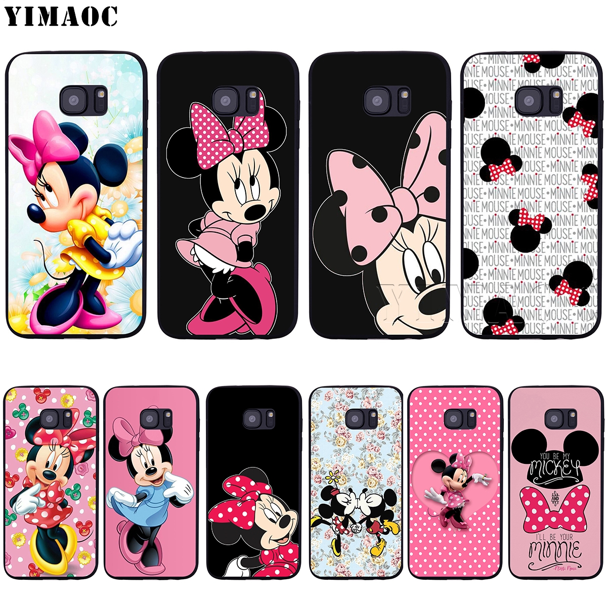 YIMAOC Minnie Mouse Soft Silicone Case for Samsung Galaxy S6 S7 Edge S8 S9 Plus A3 A5 2016 2017