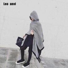 レオanviファッション毛布スカーフ冬女性バンダナボヘミアン襟格子縞の岬マントジャケットポンチョウールブレンド女性ショール