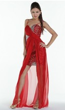 free shipping formal evening 2014 sequin dinner dress new style ball gowns crystal beaded sexy black red prom Dresses