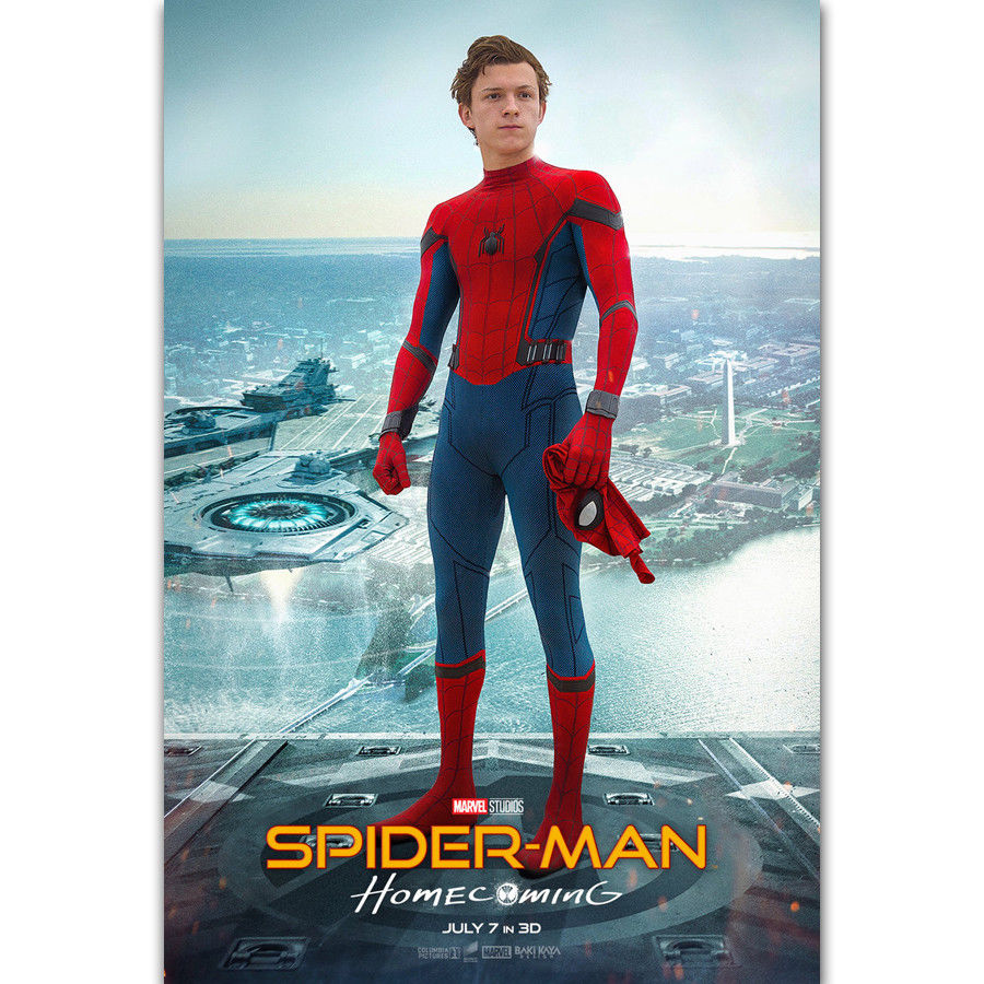 POSTER Homecoming Tom Holland Marvel Art-Print Spider-Man Decoration Movie Canvas 20x30