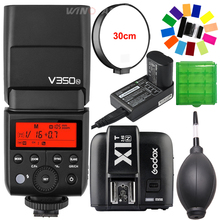 Godox V350N TTL HSS 1/8000s 2.4G X System Camera Speedlite Flash Built-in Li-ion Battery + X1T-N Trigger Transmitter for Nikon godox v350n mini flash ttl hss 1 8000s 2 4g x system built in 2000mah li ion battery camera speedlite flash for nikon camera