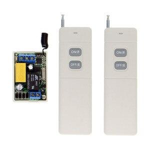 Image 1 - 3000 mt Fern AC 220 v 1 CH 1CH Relais RF Schalter Fernbedienung 2CH Sender + Mini 10A empfänger 315/433, inter lock